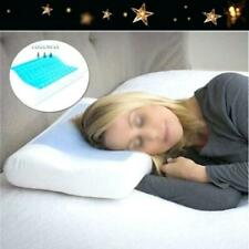 Cooling Gel Contour Orthopedic Memory Foam Pillow Form Head Neck Back Support