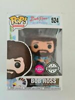 Bob Ross Flocked Funko Pop Vinyl New in Mint Box + Protector