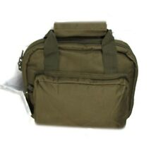 "11""  OD GREEN Padded PISTOL BAG Range Hand Gun Soft Case Hunting Lockable Army"
