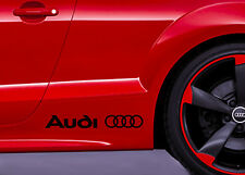 Audi+Ringe 2 St. Dekorfolie  Schriftzug Decal Aufkleber Sport -21 Farben- A0005