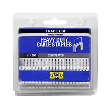 Otter Dual Cable Staples 11mm x 9.8mm 200 Pc Heavy Duty Zinc Plated HDCSP11984