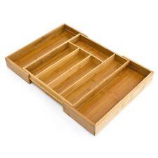 Relaxdays 10014262 - Cubertero de Bambú ampliable hasta 45 cm (5 X 29 33.5 cm)