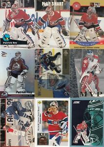 PATRICK ROY a lot of 18 DIFFERENTS CARDS near mint   LOT 61