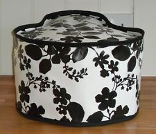 Black Floral Vinyle Dust Cover For Tefal Actifry 1.2 Kg
