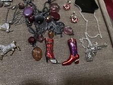 Western Theme Jewelry Lot Of 20 Items Vintage/Modern Pin's/ Earrings/ Bracelet