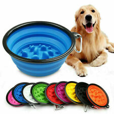 Silicone Collapsible Pet Dog Puppy Food Bowl Travel Eating Cat Dish Slow Feeder