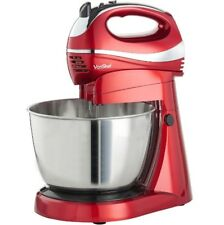 Vonshef Cake Mixer Baking Stand Mixers Red Mixing Bowl Beater Dough Blenders Red