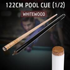 1/2 Stecca da Biliardo Whitewood 122CM/122cm Corti per Bambini Piscina Snooker
