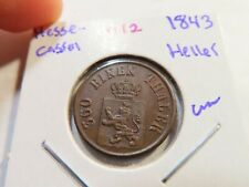D212 German State Hesse-Cassel 1843 Heller UNC