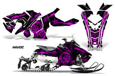 Polaris AXYS RUSH Pro S Sled Wrap Graphic Decal Kit Snowmobile 2015+ HAVOC PINK