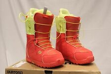 Burton Mint Coral Yellow Snowboard Boots Women's Size 9 Laces MSRP $179.95