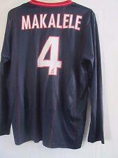 PSG Paris St Germain 2009-10 Player Issue Makalele Football Shirt Size XL /41759