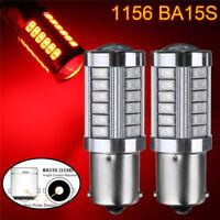 2x 1156 BA15S 33 LED 5730 SMD Rot Auto Rücklicht Bremslicht Rückfahrlicht Birne