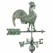Good Directions Rooster Weathervane Blue Verde Copper Patina