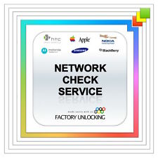 NETWORK CHECK iPhone, iPad ETC CARRIER SIM LOCK CHECK any phones EXPRESS SERVICE