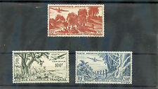 FRENCH EQUATORIAL AFRICA Sc C31-3(YT A50-2)**F-VF NH 1947 AIRMAIL SET $70