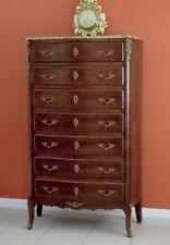 Antique French Louis XV Chest of Drawers Bed room Hallway Stand Cabinet Walnut