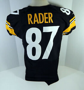 2012 Pittsburgh Steelers Kevin Rader #87 Game Issued Black Jersey 46 DP12726