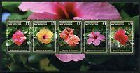 MICRONESIA 2015  FLOWERS SHEET II OF FIVE MINT NH