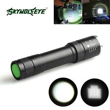Outdoor Black 9000LM Zoomable CREE XML T6 LED 18650 Flashlight Torch Lamp Light