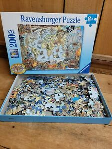 Ravensburger BLUE Pirate Map Kids Puzzle 200XXL 8+ 2015 Edition 128020 Germany
