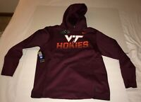 New Nike Men's Virginia Tech Hokies On Field Sideline Therma Hoodie Medium $125