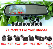 "4.3"" Car Parking Reverse Dimming Rearview Mirror + Compass/Temperature Display"