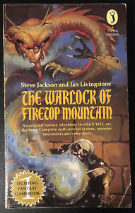 THE WARLOCK OF FIRETOP MOUNTAIN Fighting Fantasy #1 1st/9th Star Cover VG