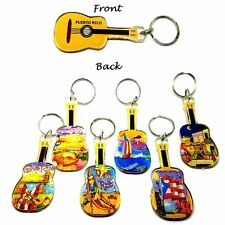1 X Puerto Rico Guitar Key Chain Holder Souvenir Rican holder WHOLESALE