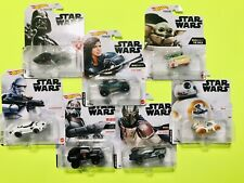 2021 Hot Wheels-Star Wars Character Cars-Set of 7 - Mandalorian, Cara Dune