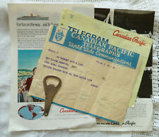 Vintage Canadian Pacific Railway Telegrams Hotel Bottle Opener Train & Ship Ads