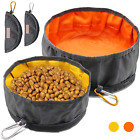 Collapsible Dog Travel Bowls W/ Zip Large Lightweight Foldable Water Food Pets