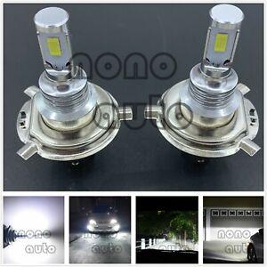 H4 9003 HB2 CSP LED Headlight High Low Beam Bulbs Kit Bright 6000K White 40W