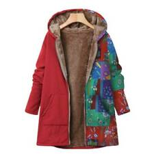 Plus Size Womens Winter Fur Lining Fleece Beho Coats Jackets Outerwear Hoodies