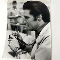 Vtg 60s Celebrity Photo Elvis Presley Live A Little Candid Black White