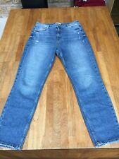 Womens River Island Slim Fit High Waist Jeans Size 14 Reg Length ... Worn Once