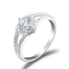 Fashion Wedding Men Women Titanium Steel Band Crystal Ring Couple Ring Jewelry