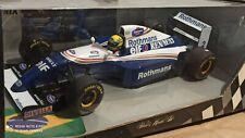 1:18 Minichamps Williams Renault FW15 Test Rothmans Tobacco Ayrton Senna Figure