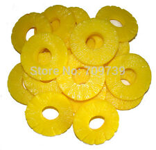 6x Fake Pineapple Slice Garnish Faux Food House Party Bbq Kitchen Decor Prop 7cm