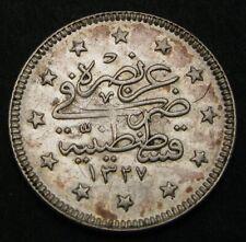 TURKEY (Ottoman Empire) 2 Kurush AH1327//1 - Silver - Muhammad V. - XF - 1396