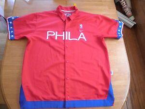 Philadelphia 76ers NIKE XXL sewn warm-up jersey jacket 1966 NICE! snaps