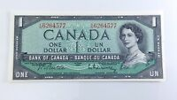 1954 Canada Shifted Signatures One 1 Dollar KN Series Uncirculated Banknote H171