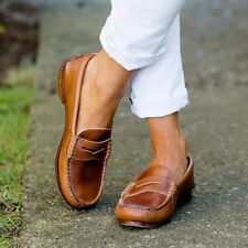 UK WOMENS LADIES FLATS SLIP ON PUMPS OXFORDS CASUAL COMFY SHOES LOAFERS SIZE 3-8
