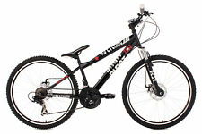 "Mountainbike 26"" Dirt MTB Schwarz Scheibenbremsen RH 34 Cm KS Cycling 113B"