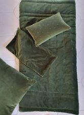 Bianca Lorenne Mica Green Velvet Comforter, 2 Eurocases & Embellised Cushion