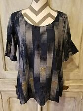 KOOKAI LADIES TOP SIZE 40 BLUE SUMMER CASUAL OFFICE LUNCH