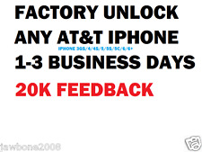 FACTORY UNLOCK CODE SERVICE AT&T IPHONE 3 4 4S 5 5C 5S 6 6+ 7
