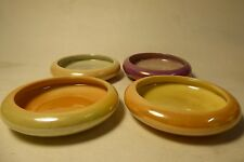 SET 4 WEMBLEY LUSTRE WARE BOWLS DISHES AUSTRALIAN POTTERY CERAMIC STUDIO
