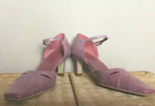 Jones Bootmaker Dusky Pink Mauve Mid Heel Strappy Shoes Leather UK 4 Party Xmas