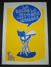 "Original Cuban SILKSCREEN Poster""The School of all worlds""Chair.Cinema & TV art"